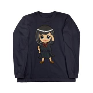 ちびキャラ/SCHOOLTYPE:黒【一ノ瀬彩】 ロングスリーブTシャツ