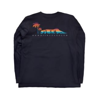 〔Back Print〕 Waikiki view Long sleeve T-shirts
