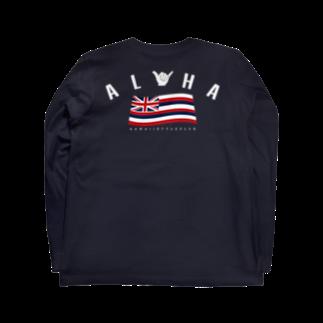 HSC ハワイスタイルクラブの〔Back Print〕Aloha Flag Long sleeve T-shirtsの裏面