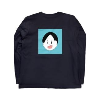 わんぱく顔 Long sleeve T-shirts