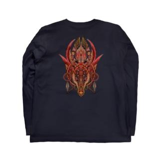 犬面の魔術師ナギーブ(レッド) Long sleeve T-shirts