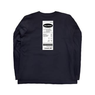 receipt back tag / レシート Long sleeve T-shirts