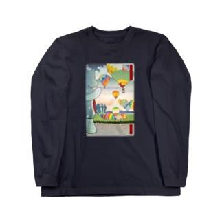 名所佐賀百景「佐賀インターナショナルバルーンフェスタ」 Long sleeve T-shirts