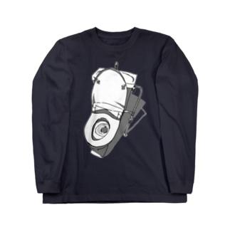 切り抜き便器 Long sleeve T-shirts