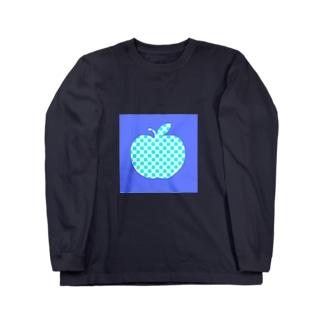 青いリンゴ Long sleeve T-shirts