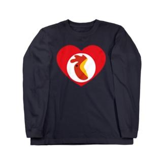 チキンハートだけに「チキン野郎!」といじめられる Long sleeve T-shirts