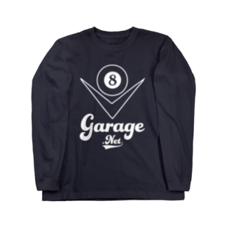 8garageロゴ V8 White Long sleeve T-shirts