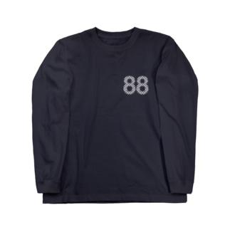 88白ロゴ Long sleeve T-shirts