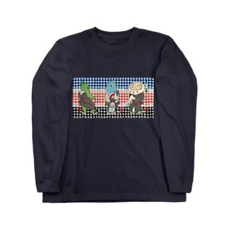 御あつらへ三色キャラ Long sleeve T-shirts