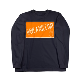 PIGGIE-PIGGY / HAVE A NICE DAY (orange) Long sleeve T-shirts