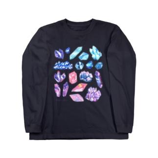宇宙鉱物のコレクション Long sleeve T-shirts