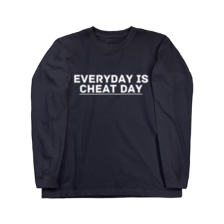 EVERYDAY IS CHEAT DAY_white ver. Long sleeve T-shirts