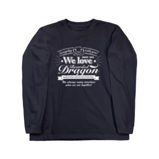 おちょこさん白色プリント Long sleeve T-shirts