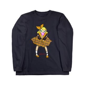 ロカビリーガールⅡ【orange】 Long sleeve T-shirts