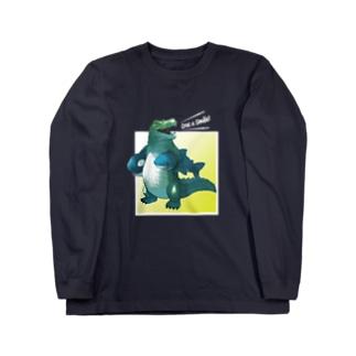 サメとシャチのぬいぐるみ(Croc a smile!) Long sleeve T-shirts