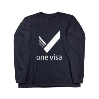 one visa White Logo Long sleeve T-shirts