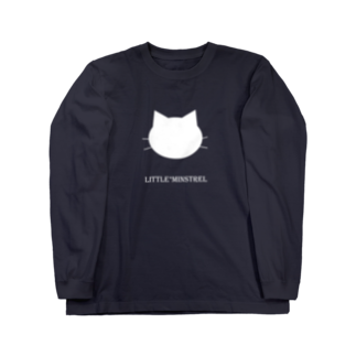 minstrel*forestのねこCATー白 Long sleeve T-shirts
