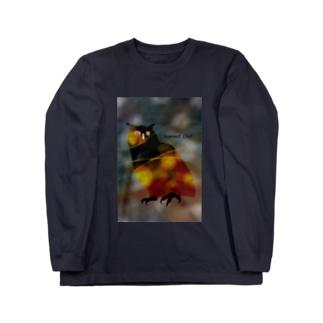 ミミズク Long sleeve T-shirts