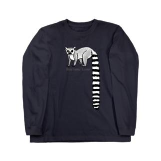 すとろべりーガムFactoryのワオキツネザル Long sleeve T-shirts