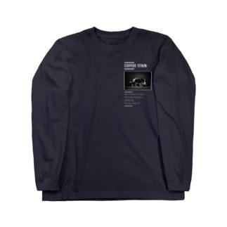 腹ペコ猪腹宇宙。カッコつけブラック Long sleeve T-shirts