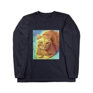 近所のねこさん Long sleeve T-shirts