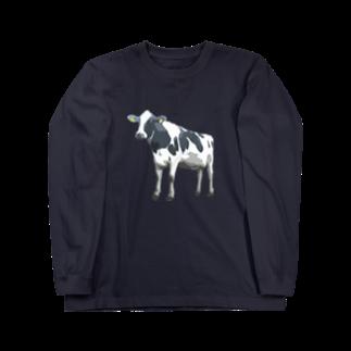 牛のTシャツ屋のホルスタイン2 Long sleeve T-shirts