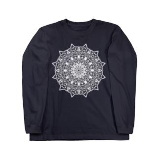 曼荼羅乃型一乃白 Long sleeve T-shirts