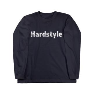 Hardstyleロゴ入りロングスリーブTシャツ 白文字 Long sleeve T-shirts
