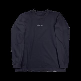 LyosukeSaitoh グッズストアのI am. me ロングTシャツ 白文字 Long sleeve T-shirts