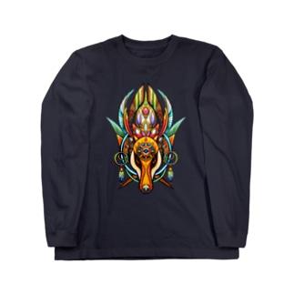 犬面の魔術師ナギーブ(カラフル) Long sleeve T-shirts