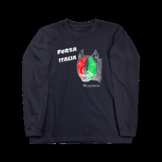 Mr.azzurroのカピトリヌスの雌狼FORZA ITALIA Long sleeve T-shirts