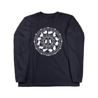 兎星座盤 Long sleeve T-shirts