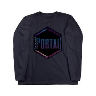 ブラックキューブ Portal  Long sleeve T-shirts