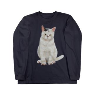 まじめな猫 Long sleeve T-shirts