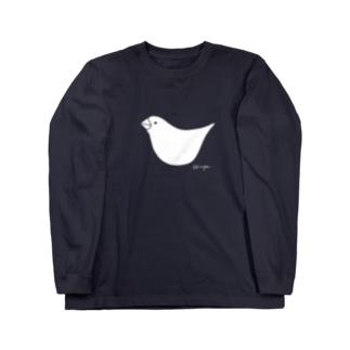 文鳥さん Long sleeve T-shirts