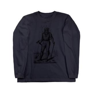 潜水服 <アンティーク・プリント> Long sleeve T-shirts