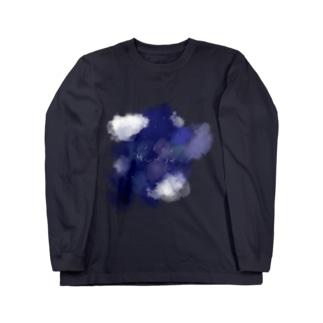 夜に降下するブリッジ Long sleeve T-shirts