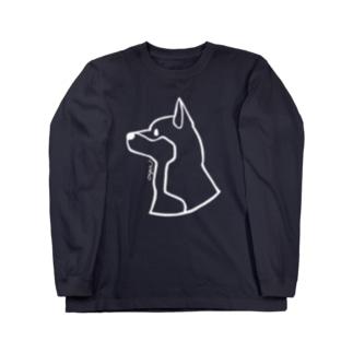 柴犬〈白線〉 Long Sleeve T-Shirt