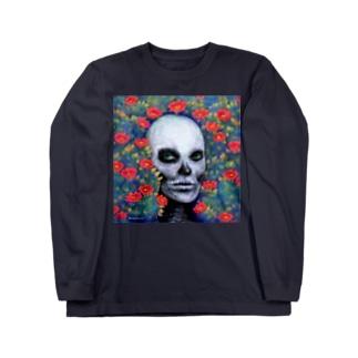 スカルペイントフェイス Long sleeve T-shirts