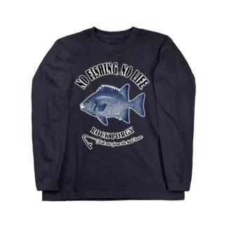 猫と釣り人のISHIGAKIDAI_EB_2CW Long sleeve T-shirts