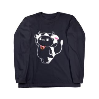 小ミルTシャツ (白抜き) Long sleeve T-shirts
