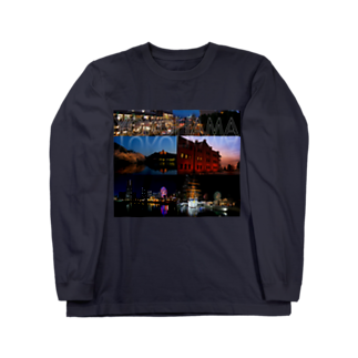 nyanbowの横浜夜景No.01 Long sleeve T-shirts