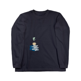 BookCupロゴ2 Long sleeve T-shirts