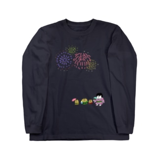打ち上げ花火 Long sleeve T-shirts
