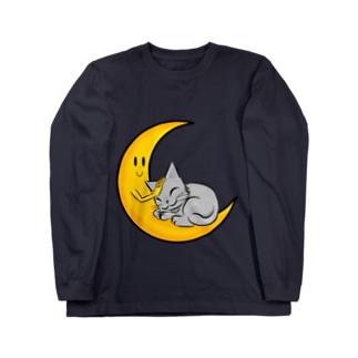 おやすみネコ Long sleeve T-shirts