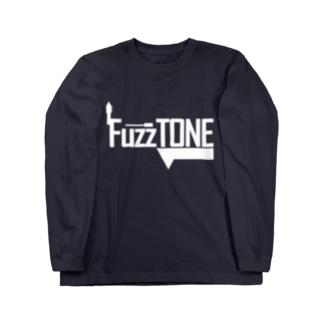 FuzzTONE -white- Long sleeve T-shirts