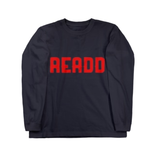 ReaDD ロゴ赤 Long sleeve T-shirts