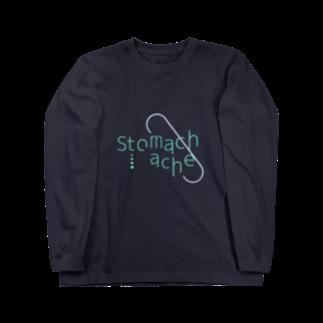 amanda_yukoninのstomachache(背景透過ver.) Long sleeve T-shirts