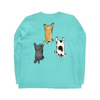 バックプリントver. 登ってくるネコたち Long Sleeve T-Shirt
