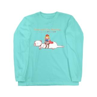 フェレットと幸せ王子 Long sleeve T-shirts